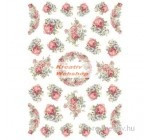 Dekupázs rizspapír A4 csomag - Rózsafüzér