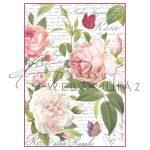 Dekupázs rizspapír A4 - Vintage rózsa