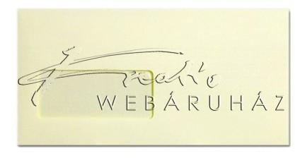 Prémium boríték - Elefántcsontszínű ablakos DL boríték, 22x11 cm, 120gr