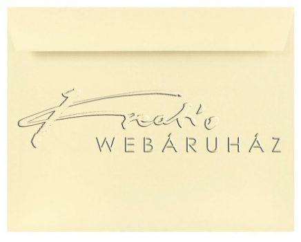 Prémium boríték - Elefántcsont színű, vászonprégelt, C6 boríték, 16,2x11,4cm 120gr