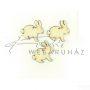 Fafigura - húsvéti nyuszi, fekvő, 15 cm