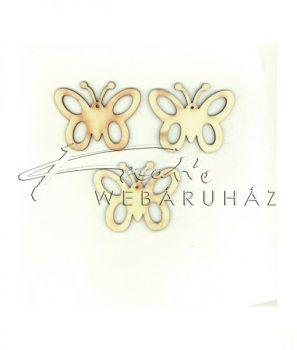 Pillangó 2 - festhető, dekorálható fafigura - 6cm