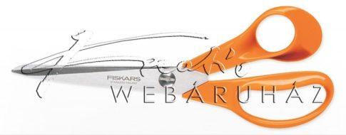 Olló - Általános jobbkezes olló, 21 cm - FISKARS Classic narancssárga
