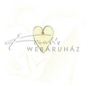 Fafigura nyújtott szív festhető 7,5x9cm