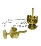 Stiftes Fülbevaló Ragasztható, Arany (4 mm)