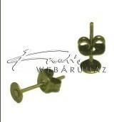 Stiftes Fülbevaló Ragasztható, Antik Sárgaréz (4 mm)
