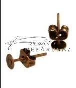 Stiftes Fülbevaló Ragasztható, Vörösréz (4 mm)