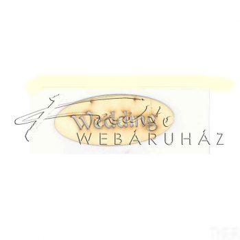 Fatábla WEDDING felirattal 14 x 6 cm