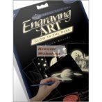 Kreatív hobby - Karcfólia, sötétben világítós, 6 db-os - 12x17 cm