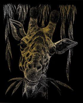 Kreatív hobby - Képkarc készlet - Arany - Zsiráf