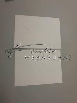Meghívó készlet - 50 db Fehér színű meghívó borítékkal