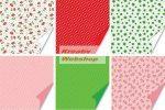 Origami papír - Apró pöttyös, lóherés, gombás - vegyes hajtogató készlet 15x15 cm