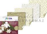 Origami papír - Karácsonyi arany origami papír, kétoldalas, 10x10cm