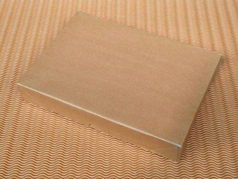 Papírdoboz - natúr, lapos, A4, 5cm magas, kihajtogatható