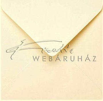15x15 cm négyzetes boríték - Krémszínű