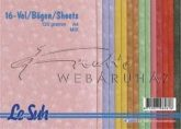 Domborított papír - Tüzijáték 9 színben, 120gr. 16 lap