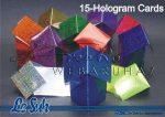 Hologramos asztali ültető karton kártya, 240gr, holografikus karton, A5-ös méret, hajtogatható, 15 lap/csomag