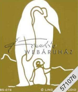 Embossing sablon - Pingvin