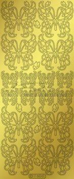 Pillangók - arany, Peel-Off