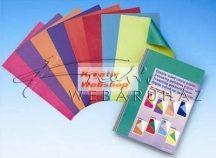 Kartonpapír - Különböző színű oldalú kartonpapír csomag, élénk színek