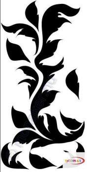 Fekete falmatrica - Indás #63