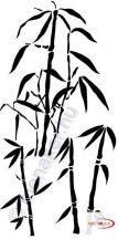 Fekete falmatrica - Bambusz #77