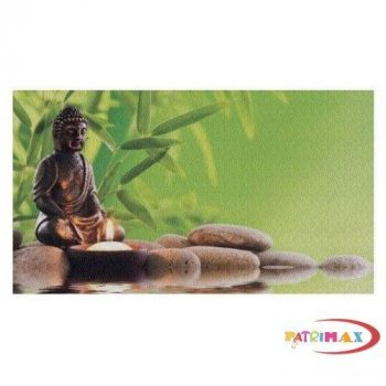 Fotó felbontású falmatrica - Zöld nyugalom, Budha
