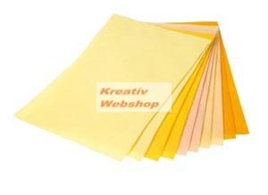 Filclap csomag - A4, sárga színek, 10 lap