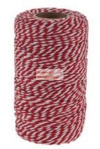 Piros-fehér zsinór, 100 m x 2mm