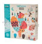 Kreatív készlet festőszivaccsal - Pontozó szivaccsal festhető erdei állatok - 20 részes