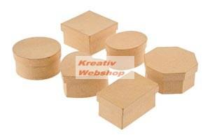 Papírdoboz készlet, natúr, vegyes, 6 db-os