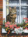 Kreatív hobby - Cica, kifestő festővászonra