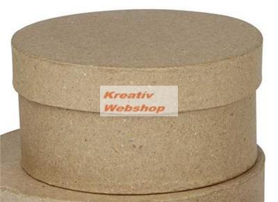 Papírdoboz készlet, nagyméretű kalapdobozok, natúr, 2 db