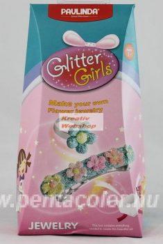 Szemcsés habgyurma készlet - Lányoknak: virágos hajcsat és virágos gyűrű