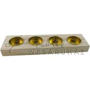 Díszíthető gyertyatartó, téglalap alakú 25 x 7 x 2,5 cm