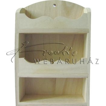 Díszíthető fali tároló, hullámos előlappal 13,5 x 5 x 20 cm