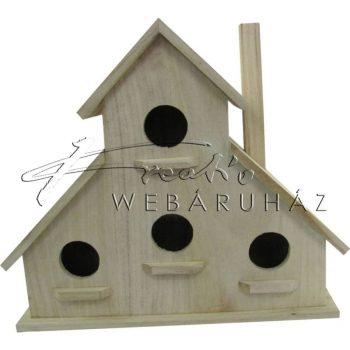 Díszíthető madáretető ház 28 x 13 x 25 cm, 4 részes