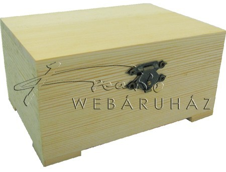 Díszíthető fa doboz, tégla alakú, 12,5 x 9 x 6,3 cm