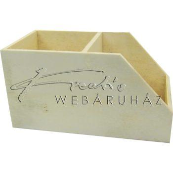 Díszíthető írószer- és jegyzettömb tartó 15 x 7,5, 8 x 3,5cm