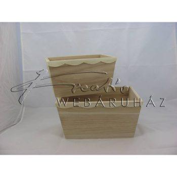 Díszíthető kínáló szett, 2 darabos 25 x 18 x 13, 21,5 x 14 x 12 cm