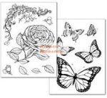 Transzfer papír - Lepkés és Rózsás minta együtt - 2 ív A4