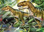 Kifestő készlet akrilfestékkel, ecsettel, gyerekeknek - 30x40 cm - Számos kifestő készlet - Dinoszauruszok
