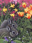 Kifestő készlet gyerekeknek - 20x25 cm - Húsvéti nyuszik