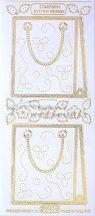 Arany Táska, virág, átlátszó Peel-Off