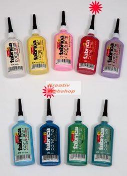 Textilkontúrozó 20 ml - Különböző színekben