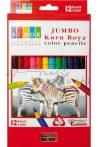 """Nagy átmérőjű """"Waldorf"""" színesceruza készlet - 12 színű, háromszög alakú, ceruzahegyezővel"""