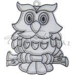 Ablakdísz forma, sablon (Suncatcher, fényvarázs, naplopó) - Állatos (bagoly, cica, kacsa, majom)