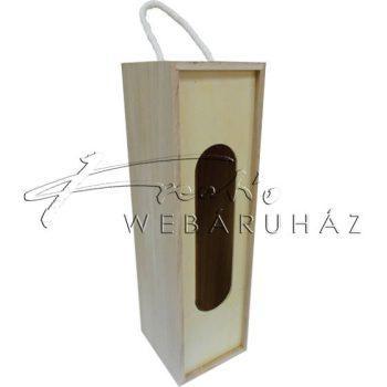 Italtartó, bortartó natúr fából, ovális kivágással, 34x11x10cm
