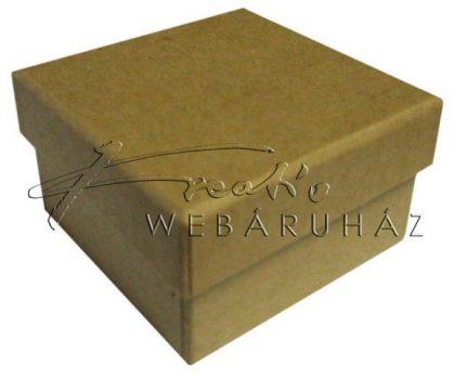 Papírdoboz négyzetes alakú, natúr, kicsi méretű, 6 x 6 x 3,5 cm