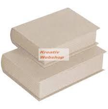 Papírdoboz készlet, könyv alakú, 2 db-os